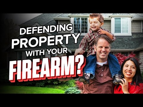 Ask USCCA: Can I Use a Firearm to Defend Property?