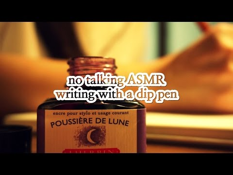 ASMR | (1 HOUR) 딥펜으로 글씨 쓰기 Writing with a Dip PenㅣNo Talking