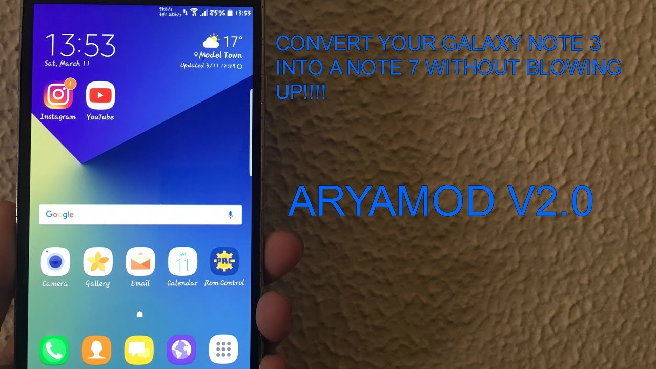 CONVERT YOUR GALAXY NOTE 3 INTO A NOTE 7 (ARYAMOD V2 0) PART 3