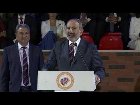 Nikol Pashinyan Pan Armenian Games 2019 - God Bless Armenia