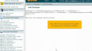 How to edit or delete hosting packages in WHM - 4GoodHosting Support