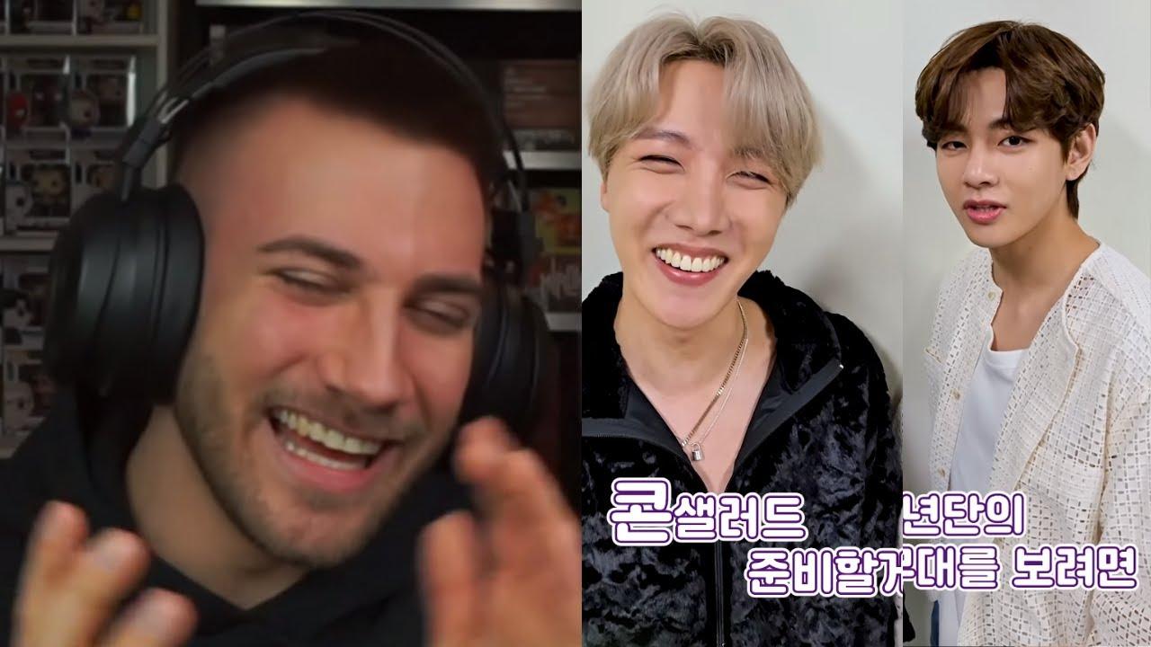 HOBI MAKES ME LAUGH 😂 BTS (방탄소년단) 'BANG BANG CON 21' j-hope & V #shorts - REACTION