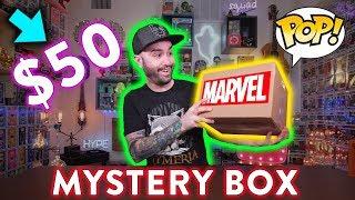 $50 Funko Pop Marvel Grail Mystery Box Unboxing!