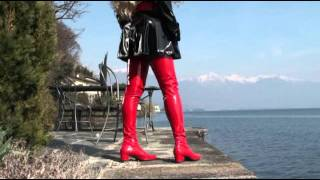 Red Patent Crotch Thigh High Boots.mp4 Thumbnail