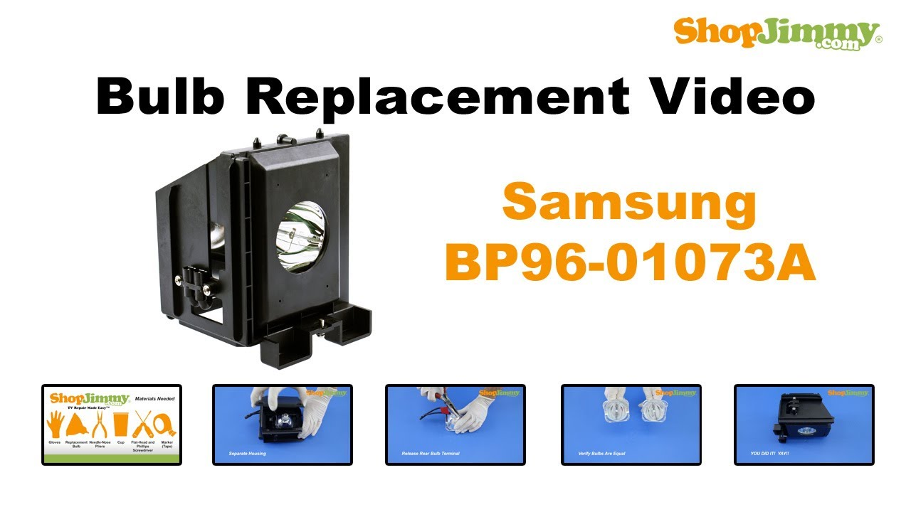 samsung bp96 01073a bulb replacement guide for dlp tv lamp youtube. Black Bedroom Furniture Sets. Home Design Ideas