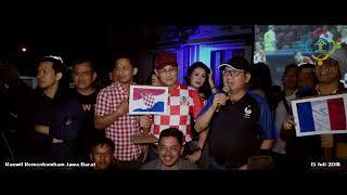 Serunya Nobar Final Piala Dunia 2018 di Kanwil Kemenkumham Jabar