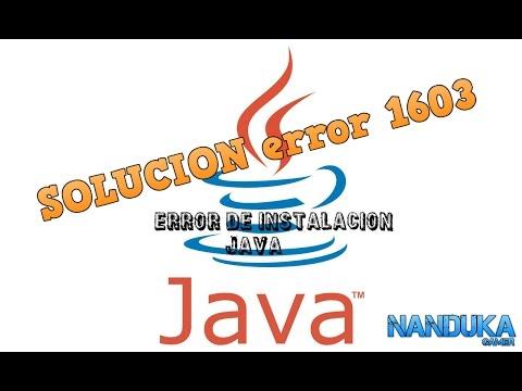 SOLUCION error 1603 JAVA 2017 solucion DEFINITIVA 1 link