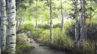Birch Tree River | Paint with Kevin ®