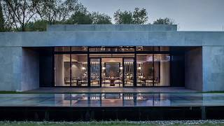 Contemporary Chinese Teahouse Idea with Serene Zen Aesthetics