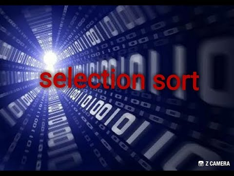 Selection sort with example and time complexity