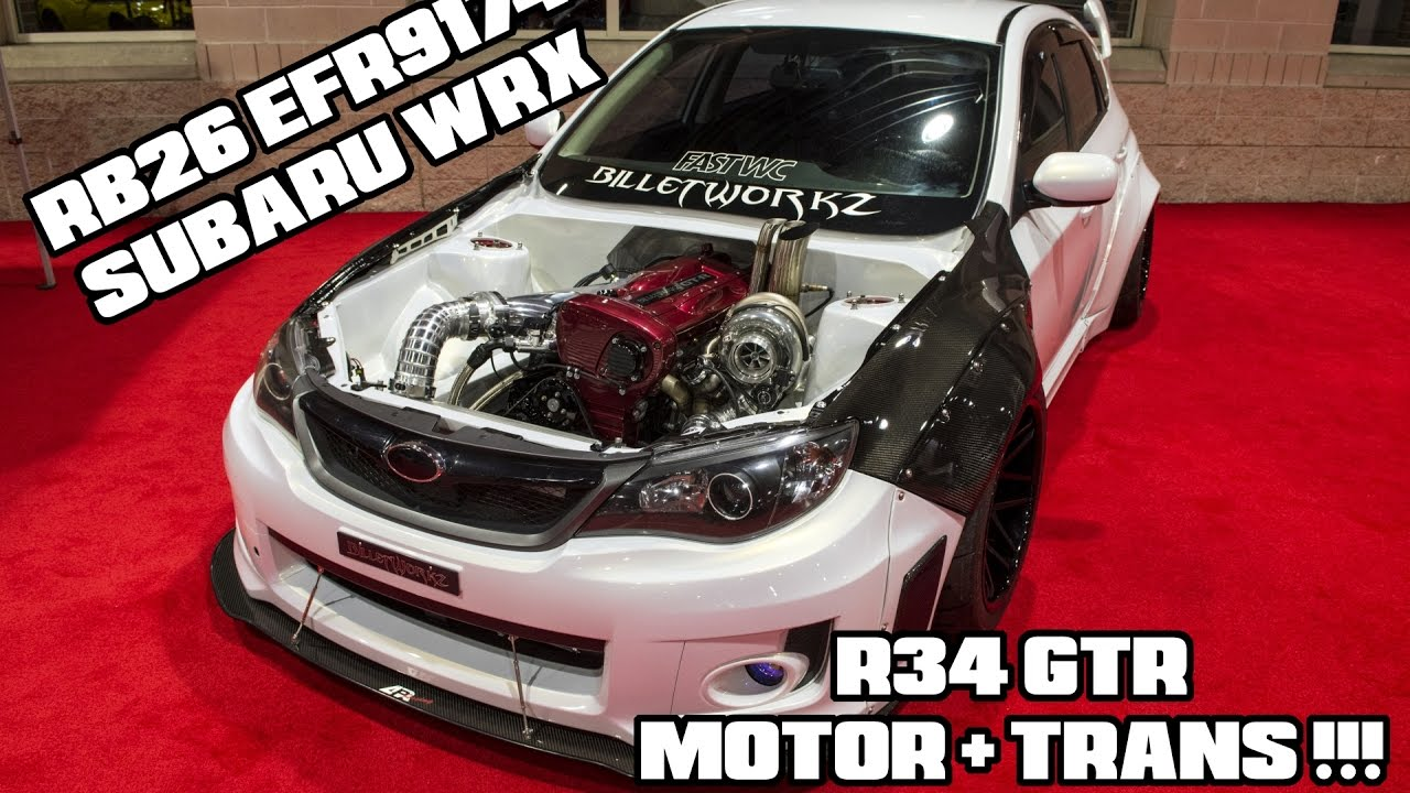 R34 GTR MOTOR IN A SUBARU WRX - YouTube