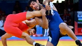 Sushil Kumar, Olympic Wrestling Champion, shows HLT reporter his moves