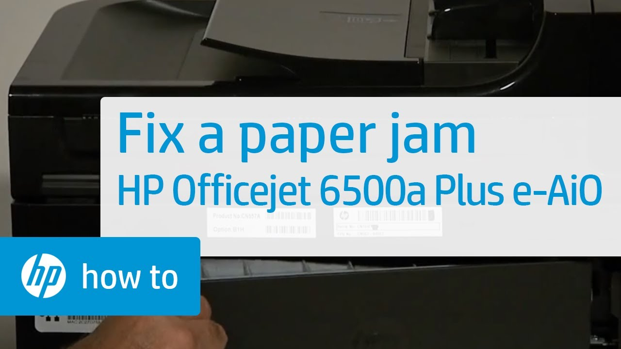 Fixing A Paper Jam Hp Officejet 6500a Plus E All In One