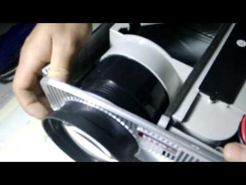 Installation of projector lens