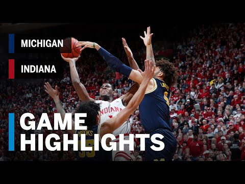 Extended Highlights: Michigan at Indiana | Big Ten Basketball
