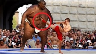 Tiny Man vs Biggest UFC Fighter in the World - WHO WIN?