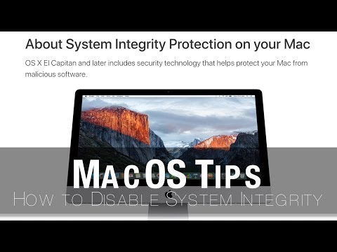 Mac Tips | How To Disable MacOS System Integrity
