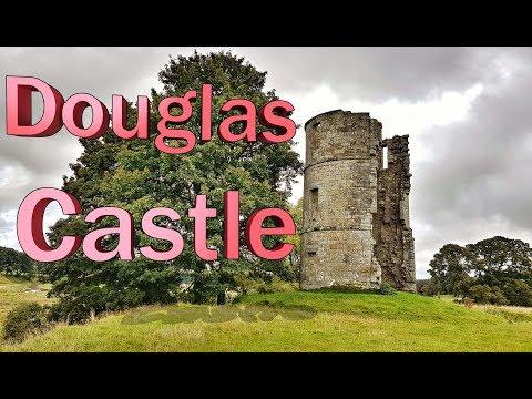 Trail trek Douglas castle Lanarkshire Scotland