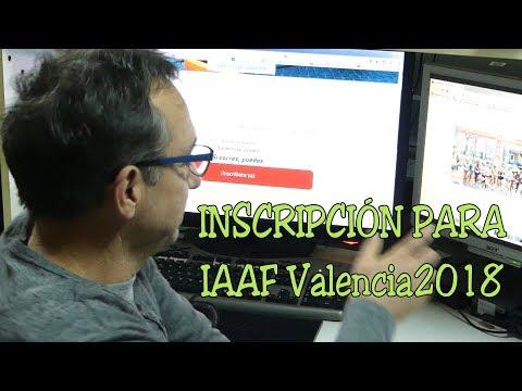 inscripcion para el IAAF/Trinidad Alfonso Campeonato del Mundo de Media Maratón Valencia 2018