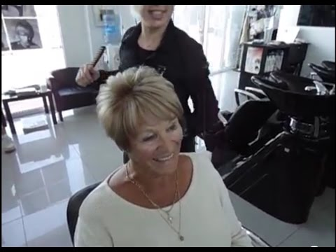 1 How to Blow dry short hair TIPS by Amal Hermuz