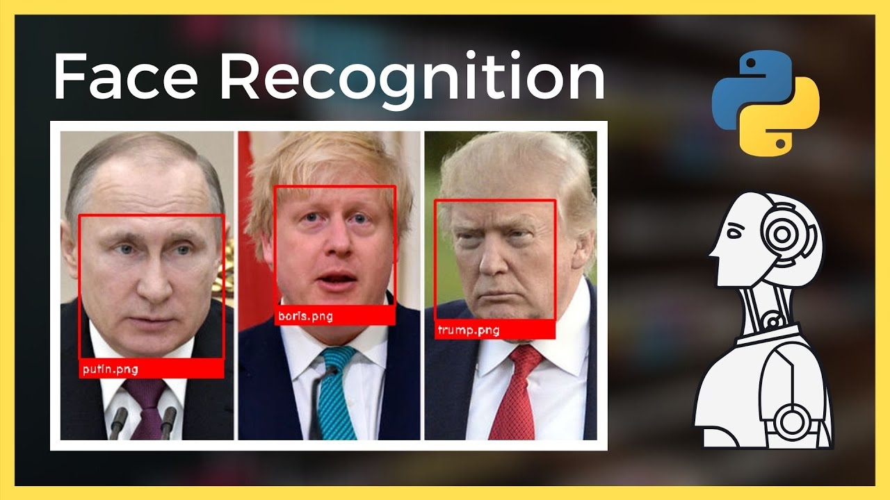 Face Recognition in Python Tutorial 2021 (Recognise and label multiple faces)
