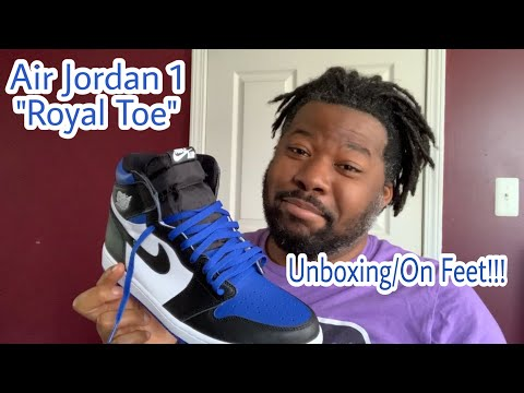 Air Jordan 1 'Royal Toe' Unboxing/On Feet!!!