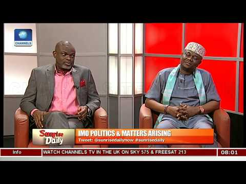 Imo Governorship Race And Endorsement Controversies Pt.1 |Sunrise Daily|