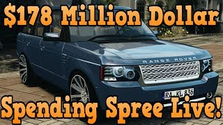 """GTA 5 Online"" $178 Million Dollar Spending Spree W/ Facecam! (GTA Online)"