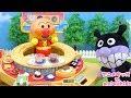 アンパンマン おもちゃ アニメ お寿司を食べに行こう! くるくる回転寿司 ❤ アニメキッズ
