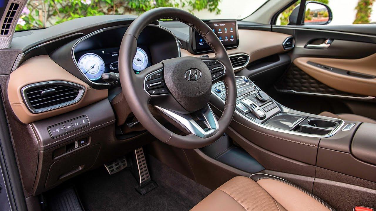 Download 2021 Hyundai Santa Fe - INTERIOR, Exterior & Driving