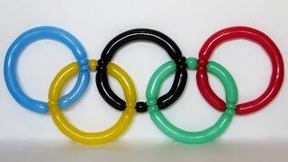 видео: Олимпийские кольца из шаров / the Olympic rings of balloons (Subtitles)