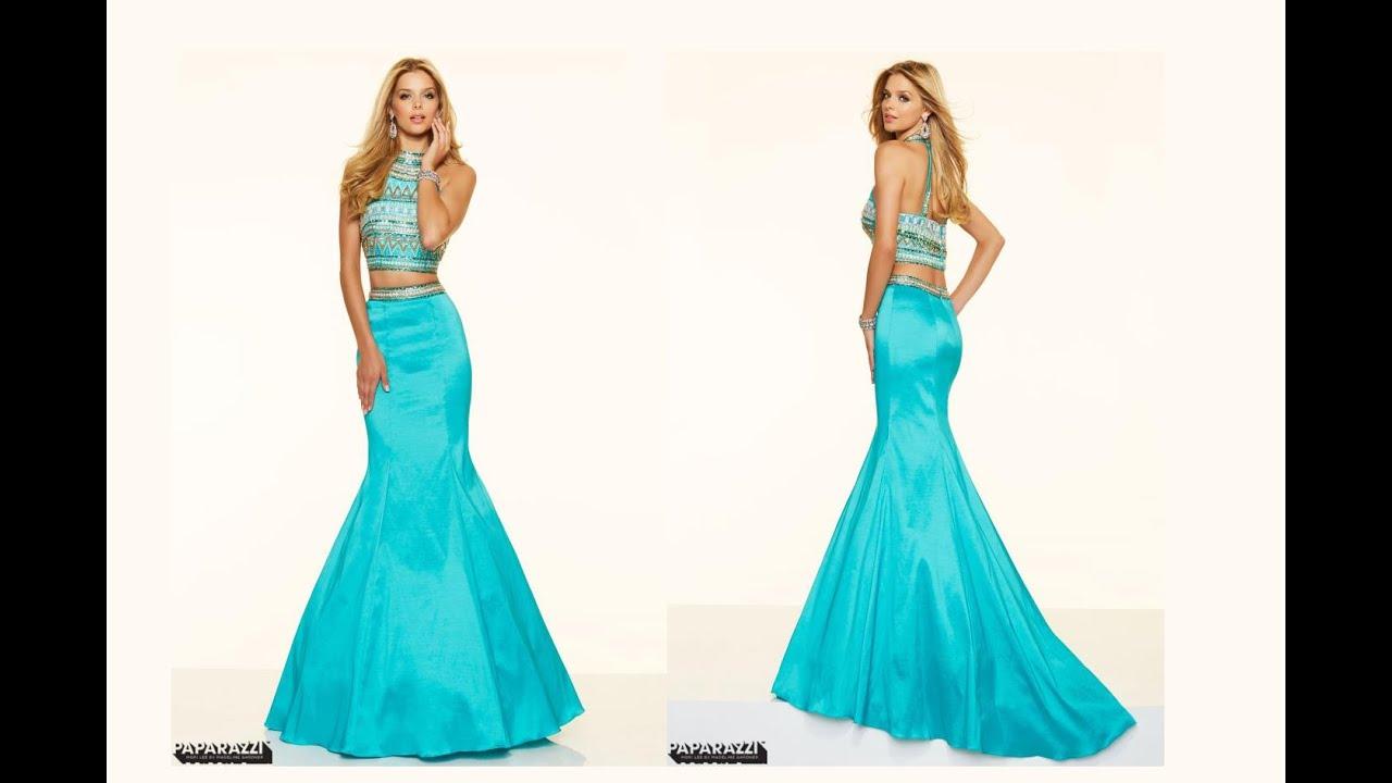 Mori Lee Beaded Top Prom Dress 98105 - YouTube