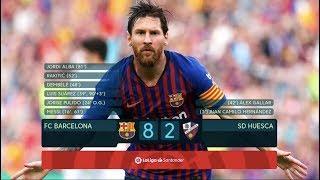 Barcelona vs Huesca [8-2] - MATCH REVIEW