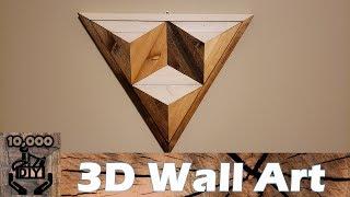 DIY : 3D Illusion Geometric Triangle Wooden Wall Art / Reclaimed wood wall art / Wall Accent