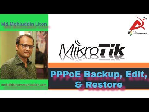 PPPoE Backup, Edit, & Restore Bangla.