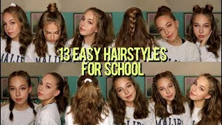 13 EASY HAIRSTYLES FOR SCHOOL