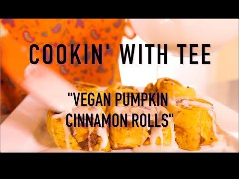 Vegan Pumpkin Cinnamon Rolls !