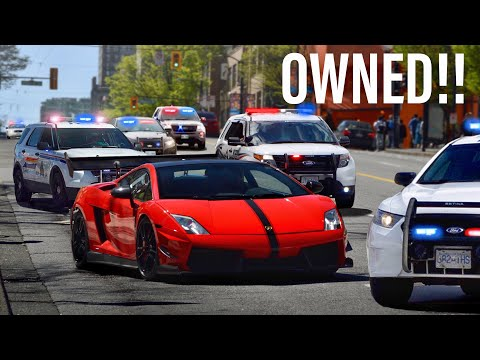COPS MESSING WITH THE WRONG LAMBORGHINI DRIVER!! (COMPILATION)
