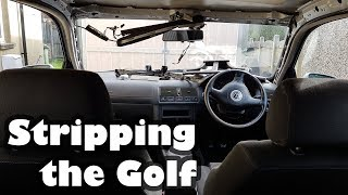 Stripping Project Shed - Volkswagen Golf