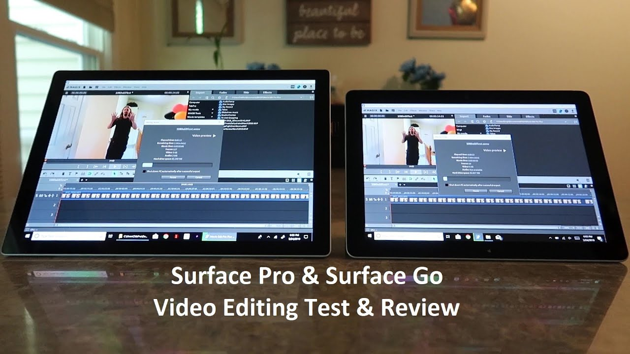 Surface Pro & Go Video Editing Test - 1080 & 4k - Are They Good For Video Editing?!?