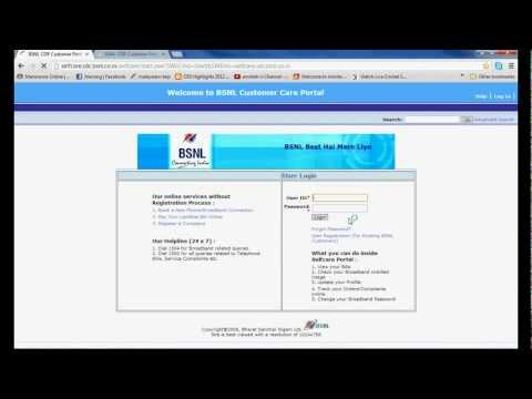 BSNL Selfcare Registration (Malayalam)