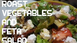 Roast Vegetable & Feta Chesse Salad Recipe - Eggplant Sun Dried Tomatoes