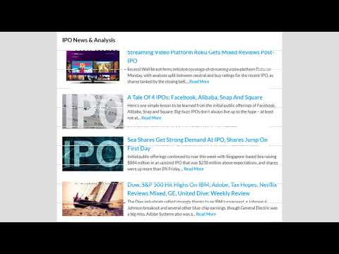 How To Find And Track Top IPO Stocks