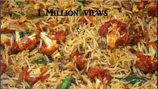 SPICY AND TASTY GOBI FRIED RICE/MANCHURIAN RICE RECIPE