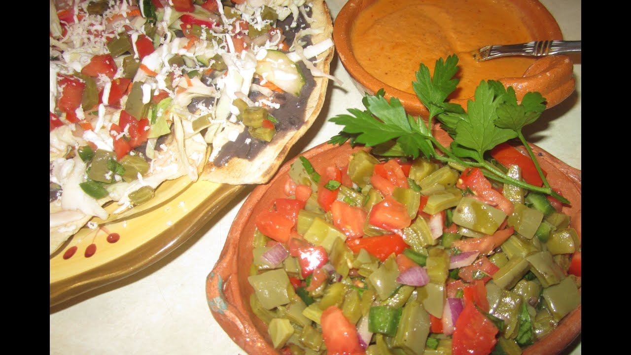 Comida saludable ensalada de nopales facil y economica for Comidas faciles y saludables