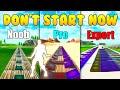 don 39 t start now noob vs pro vs expert fortnite music blocks code in description