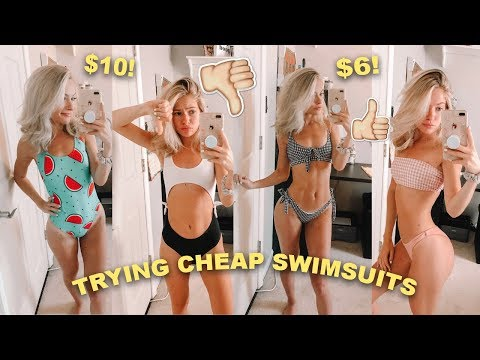 TRYING ON SUPER CHEAP SWIMSUITS