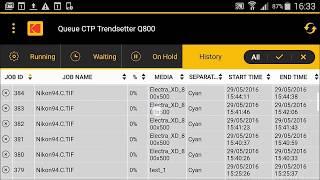 Nueva App para controlar tu CTP KODAK desde tu Telefono Mobil.