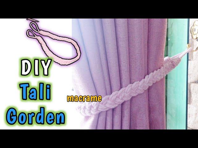 DIY MACRAME CURTAIN TIEBACK | Cara Membuat Tali Gorden Makrame Simple