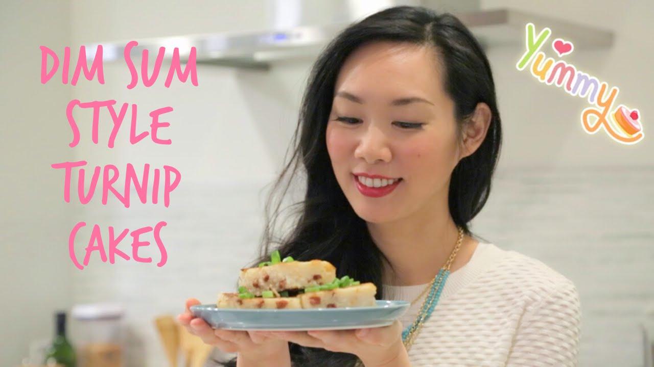 How To Make Chinese Turnip Cakes 蘿蔔糕 Dim Sum Style Youtube